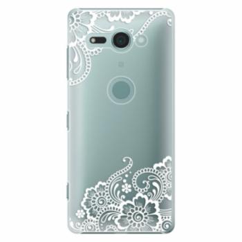 Plastové pouzdro iSaprio - White Lace 02 - Sony Xperia XZ2 Compact