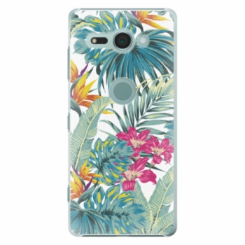Plastové pouzdro iSaprio - Tropical White 03 - Sony Xperia XZ2 Compact