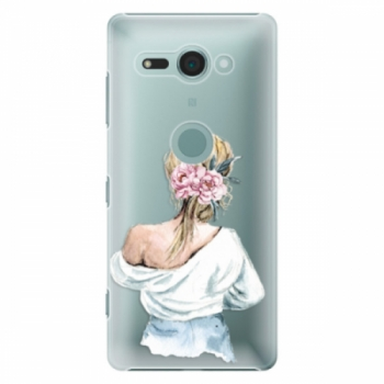 Plastové pouzdro iSaprio - Girl with flowers - Sony Xperia XZ2 Compact