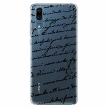 Plastové pouzdro iSaprio - Handwriting 01 - black - Huawei P20