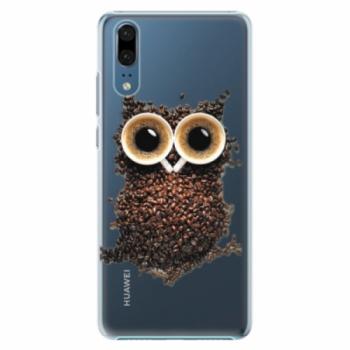 Plastové pouzdro iSaprio - Owl And Coffee - Huawei P20