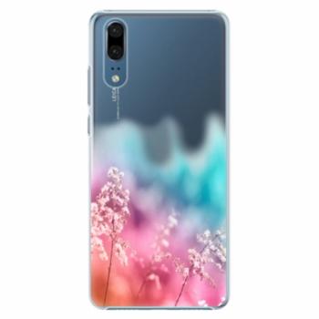 Plastové pouzdro iSaprio - Rainbow Grass - Huawei P20