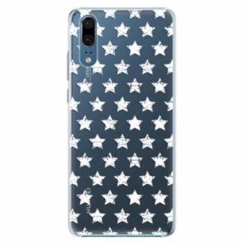 Plastové pouzdro iSaprio - Stars Pattern - white - Huawei P20