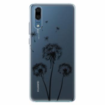 Plastové pouzdro iSaprio - Three Dandelions - black - Huawei P20