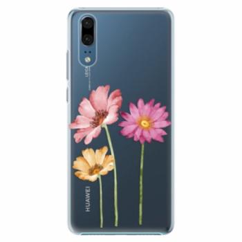 Plastové pouzdro iSaprio - Three Flowers - Huawei P20