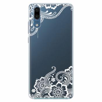 Plastové pouzdro iSaprio - White Lace 02 - Huawei P20