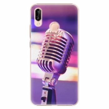 Plastové pouzdro iSaprio - Vintage Microphone - Huawei P20 Lite