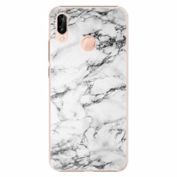 Plastové pouzdro iSaprio - White Marble 01 - Huawei P20 Lite