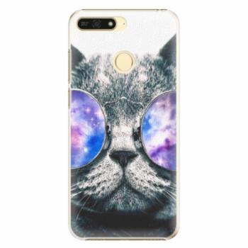 Plastové pouzdro iSaprio - Galaxy Cat - Huawei Honor 7A