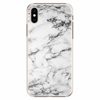 Plastové pouzdro iSaprio - White Marble 01 - iPhone XS