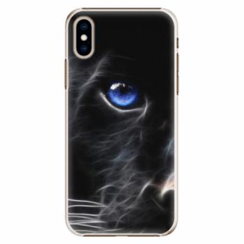 Plastové pouzdro iSaprio - Black Puma - iPhone XS