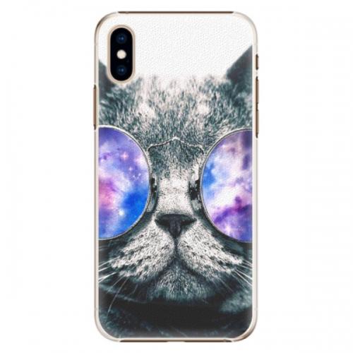 Plastové pouzdro iSaprio - Galaxy Cat - iPhone XS