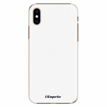 Plastové pouzdro iSaprio - 4Pure - bílý - iPhone XS
