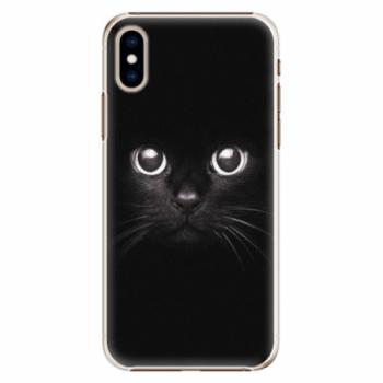 Plastové pouzdro iSaprio - Black Cat - iPhone XS