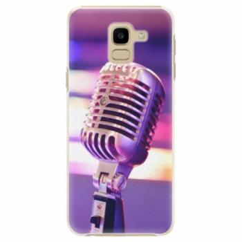 Plastové pouzdro iSaprio - Vintage Microphone - Samsung Galaxy J6