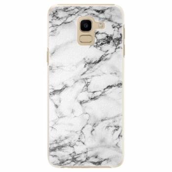 Plastové pouzdro iSaprio - White Marble 01 - Samsung Galaxy J6