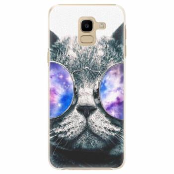 Plastové pouzdro iSaprio - Galaxy Cat - Samsung Galaxy J6