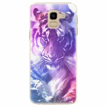 Plastové pouzdro iSaprio - Purple Tiger - Samsung Galaxy J6