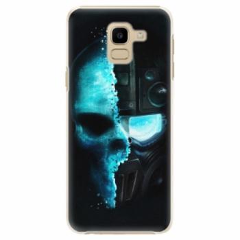 Plastové pouzdro iSaprio - Roboskull - Samsung Galaxy J6