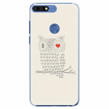 Plastové pouzdro iSaprio - I Love You 01 - Huawei Honor 7C