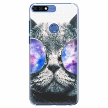 Plastové pouzdro iSaprio - Galaxy Cat - Huawei Honor 7C