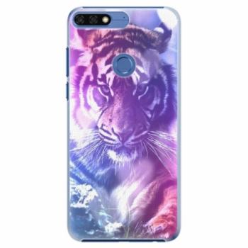 Plastové pouzdro iSaprio - Purple Tiger - Huawei Honor 7C