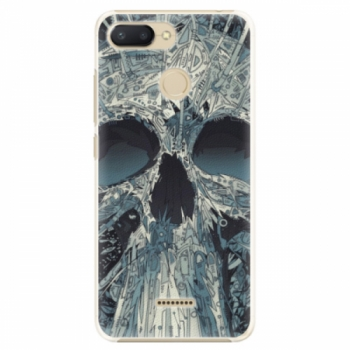 Plastové pouzdro iSaprio - Abstract Skull - Xiaomi Redmi 6
