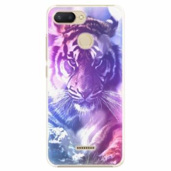 Plastové pouzdro iSaprio - Purple Tiger - Xiaomi Redmi 6
