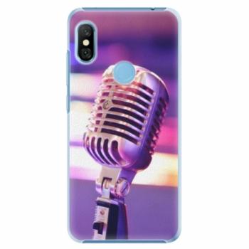 Plastové pouzdro iSaprio - Vintage Microphone - Xiaomi Redmi Note 6 Pro