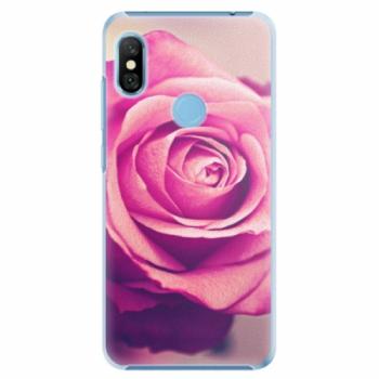Plastové pouzdro iSaprio - Pink Rose - Xiaomi Redmi Note 6 Pro