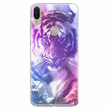 Plastové pouzdro iSaprio - Purple Tiger - Asus Zenfone Max Pro ZB602KL