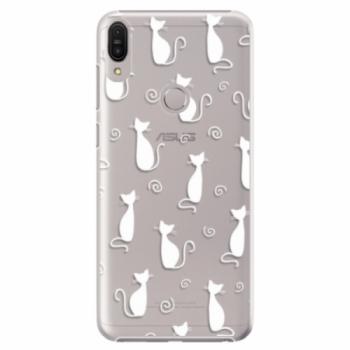 Plastové pouzdro iSaprio - Cat pattern 05 - white - Asus Zenfone Max Pro ZB602KL