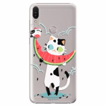 Plastové pouzdro iSaprio - Cat with melon - Asus Zenfone Max Pro ZB602KL