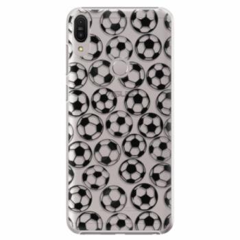 Plastové pouzdro iSaprio - Football pattern - black - Asus Zenfone Max Pro ZB602KL