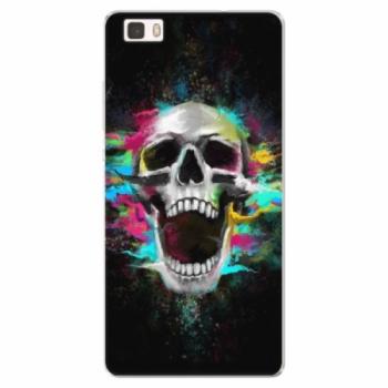 Silikonové pouzdro iSaprio - Skull in Colors - Huawei Ascend P8 Lite
