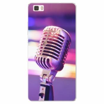 Silikonové pouzdro iSaprio - Vintage Microphone - Huawei Ascend P8 Lite