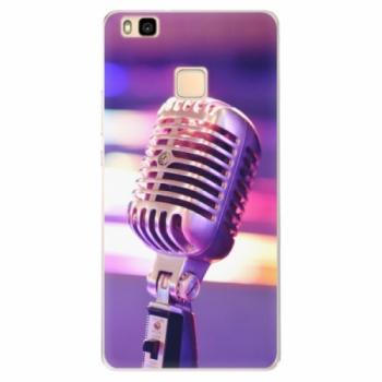 Silikonové pouzdro iSaprio - Vintage Microphone - Huawei Ascend P9 Lite
