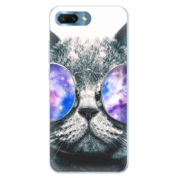 Silikonové pouzdro iSaprio - Galaxy Cat - Huawei Honor 10