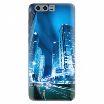 Silikonové pouzdro iSaprio - Night City Blue - Huawei Honor 9