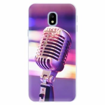 Silikonové pouzdro iSaprio - Vintage Microphone - Samsung Galaxy J3 2017
