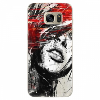Silikonové pouzdro iSaprio - Sketch Face - Samsung Galaxy S7 Edge