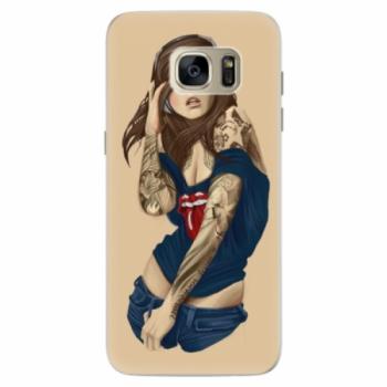 Silikonové pouzdro iSaprio - Girl 03 - Samsung Galaxy S7 Edge