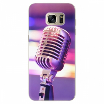 Silikonové pouzdro iSaprio - Vintage Microphone - Samsung Galaxy S7 Edge