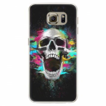 Silikonové pouzdro iSaprio - Skull in Colors - Samsung Galaxy S6 Edge