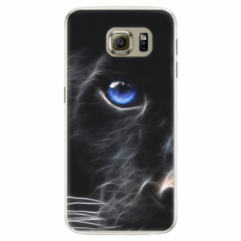 Silikonové pouzdro iSaprio - Black Puma - Samsung Galaxy S6 Edge