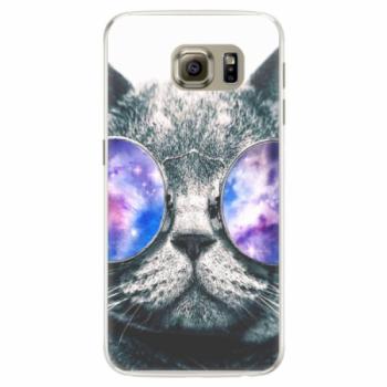 Silikonové pouzdro iSaprio - Galaxy Cat - Samsung Galaxy S6 Edge