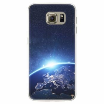 Silikonové pouzdro iSaprio - Earth at Night - Samsung Galaxy S6 Edge