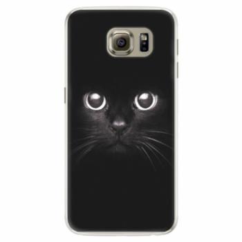 Silikonové pouzdro iSaprio - Black Cat - Samsung Galaxy S6 Edge