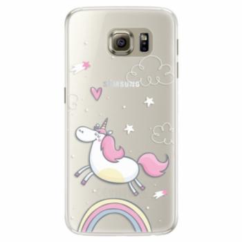 Silikonové pouzdro iSaprio - Unicorn 01 - Samsung Galaxy S6 Edge
