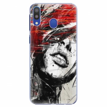 Plastové pouzdro iSaprio - Sketch Face - Samsung Galaxy M20